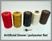 Waxed Artificial Sinew/ Polyester Flat